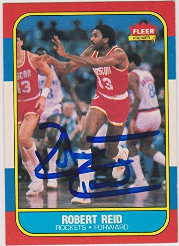 Robert Reid Signed Autographed 1986 Fleer Trading Card Houston Rockets - Unsigned Basketball -