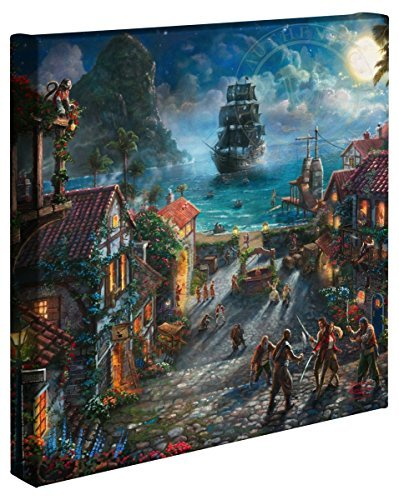 - Thomas Kinkade Studios Pirates of the Caribbean Disney Canvas Gallery Wrap