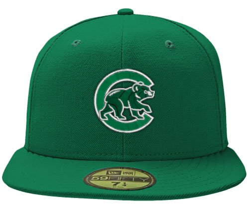 Chicago Cubs 59Fifty St. Patrick's Day Green Hat by New Era Select Fitted Cap Size: 6 7/8