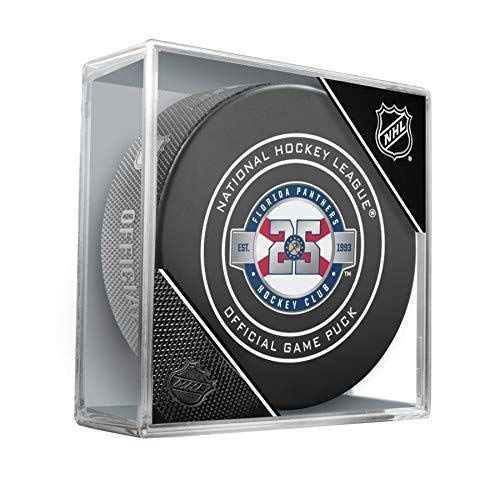 Florida Panthers Official Game Hockey Puck with Holder]()
