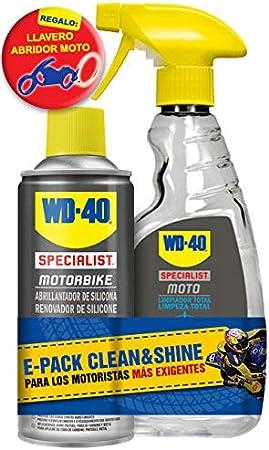 WD40 Motorbike Limpieza Moto Clean & Shine + Regalo Llavero Moto: Amazon.es: Coche y moto