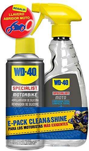 WD40 Motorbike Limpieza Moto Clean & Shine + Regalo Llavero Moto