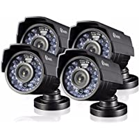 Swann 720P HD Bullet Security Cameras - Pack of 4 Pro-810 Cameras, White - SRPRO-810AWB4-US