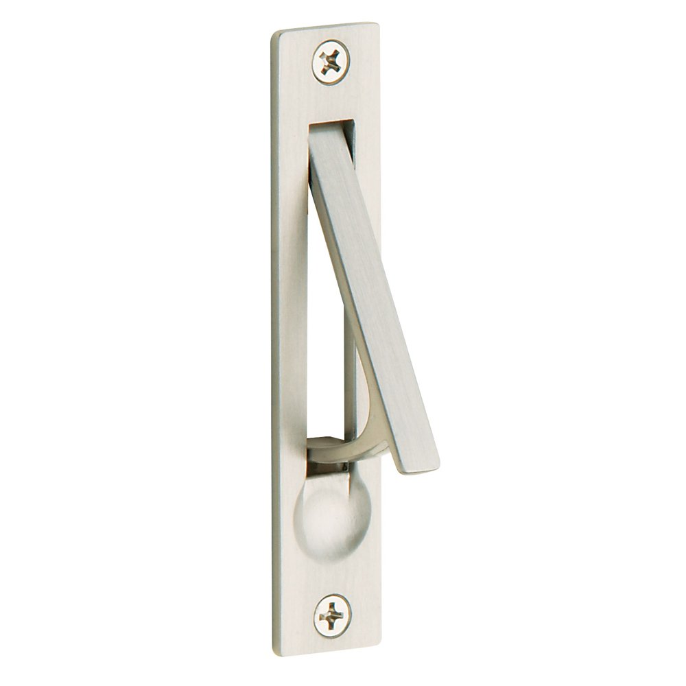 Baldwin Estate 0465.150 Narrow Solid Forged Brass Edge Pull in Satin Nickel