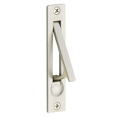 Baldwin Estate 0465 150 Narrow Solid Forged Brass Edge Pull In Satin