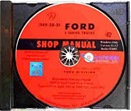 1949 1950 1951 ford truck pickup repair shop service manual cd rh amazon com 1949 Ford F1 1953 Ford F1