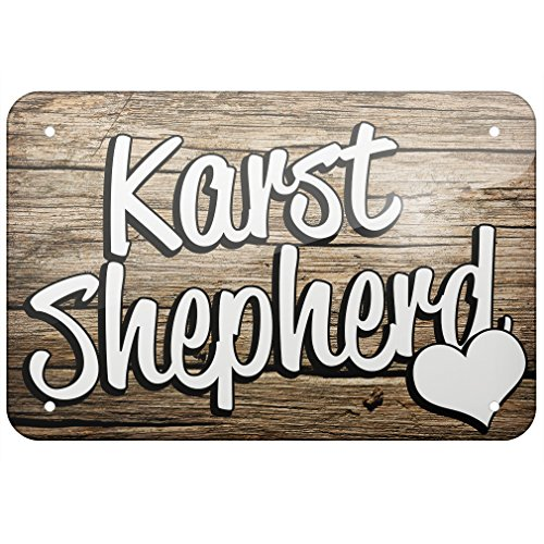 NEONBLOND Metal Sign Karst Shepherd, Dog Breed Slovenia, Small 8x12 ()