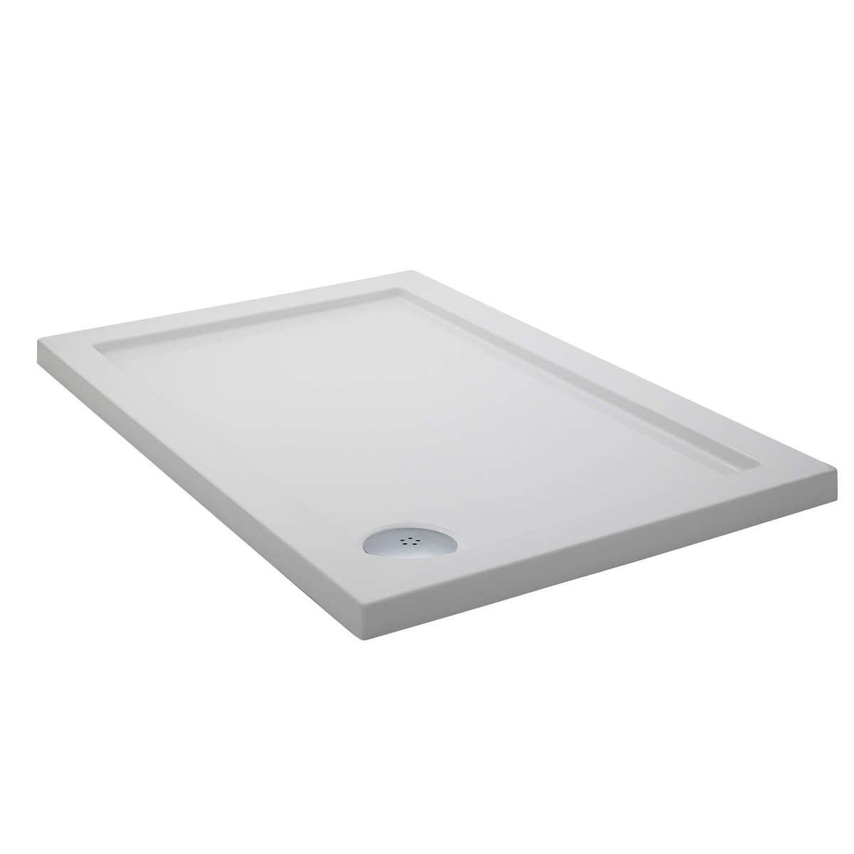 Pearlstone Rectangular Shower Tray Size: 120 cm W x 90 cm D: Amazon ...
