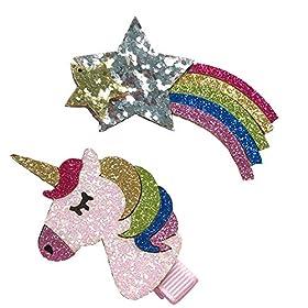 - 51vK wyRJkL - VLalin Unicorn Gift Set Unicorn Purse/Necklace/Lace Choker/Keychain/Head Clip/Headband