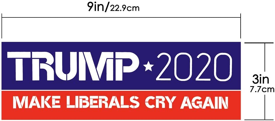 PACETAP 10 PCS 9 X 3 inch Make Liberals Cry Again Trump 2020 Car Truck Bumper Stickers Decals United States Presidential Election