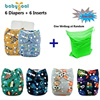 Babygoal Baby Reuseable Washable Pocket Minky Cloth Diaper, baby boy clothes,...