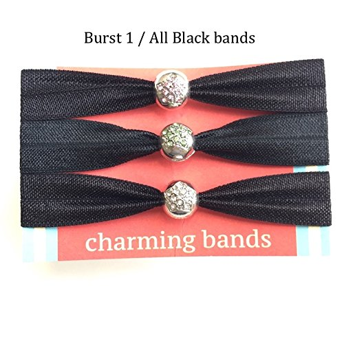Premium Quality 3-Pcs Elastic Ribbon Hair Tie Set W  Charms – Elegant Creaseless  Ponytail Holders – Gentle 13532f0d278
