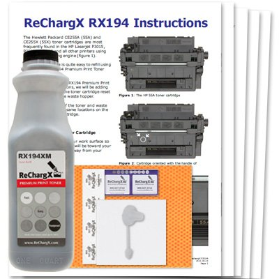 HP Laserjet P3015x High Yield MICR Toner Refill Kit - Only Needed if You are Printing Checks