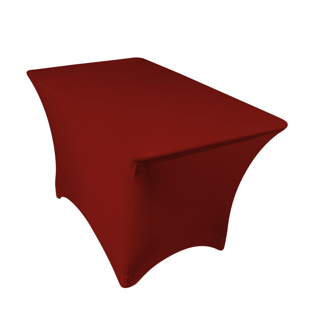 amazoncom 4 ft rectangular stretch tablecloth black home u0026 kitchen
