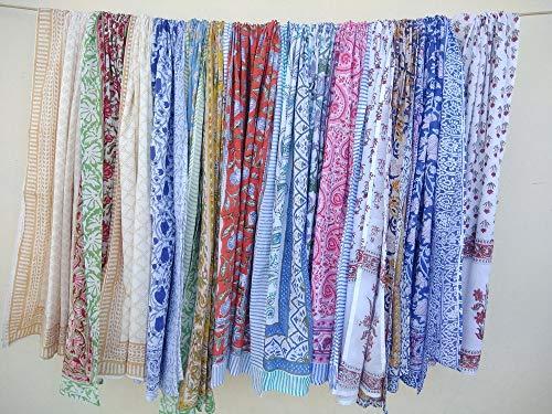 10 Pc Mix Lot Wholesale Price Sarong Indian Hand Block Print Sarong Cotton Pareo Women Bikini Cover Women Scarves Size 44x72 Inch