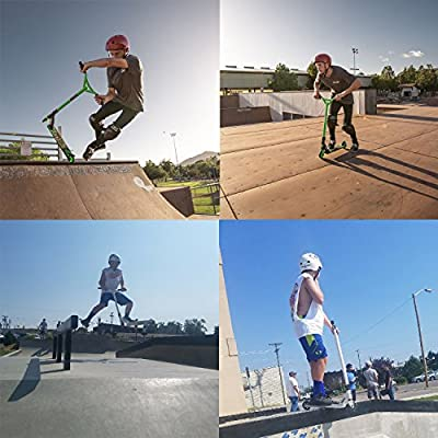 "VOKUL S2 Tricks Pro Stunt Scooter with Stable Performance - Best Entry Level Freestyle Pro Scooter for Age 7 Up Kids,Boys,Girls - CrMo4130 Chromoly Bar - Reinforced 20"" L4.1 W Deck by Vokul"