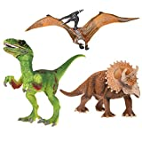 Uarter Realistic Kids Saichania Figure Educational Saichania Dinosaur Toys Practical Saichania Action Figure, Saichania Pattern (3-Pack)