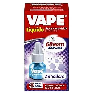 Vape Ricarica Liquida Antiodore, Protegge da Zanzare e Combatte Odori di Umidità e Chiuso, 60 Notti, 1 Unità 1 spesavip