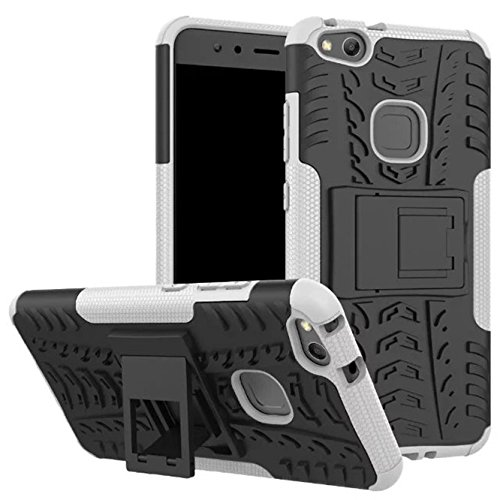 Price comparison product image Huawei P10 Lite Case, Enjoy Sunlight [White] [Kickstand] [Heavy Duty] [Dual Layer] Hybrid Shock Proof Fully Protective Case for Huawei P10 Lite