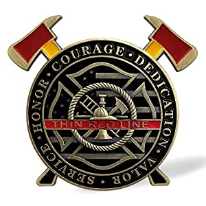 Thin Red Line Firefighter Challenge Coin - We Will Always Run in from Southkingze