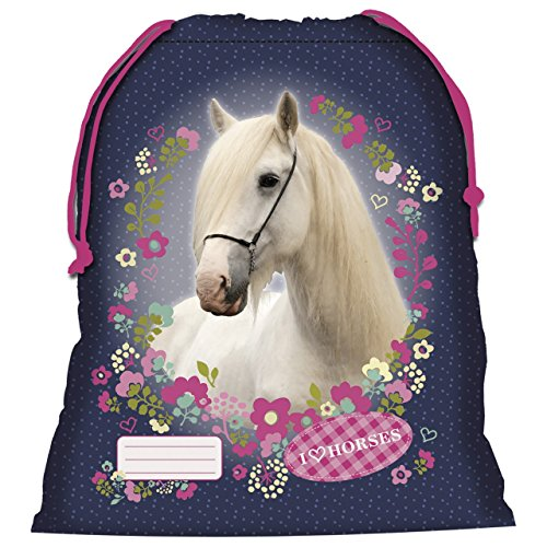d1cc5db6cf Cavallo bianco sacchetto Piscina Scarpe Scuola Spiaggia novità Horses Pony  Pony