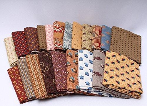 10 Fat Quarters - American Civil War Fat Quarter Bundle 1800's Reproduction Quality Quilters Cotton Fabrics M228.01