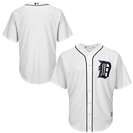 f175a71d79c VF Detroit Tigers MLB Mens Majestic Cool Base Alternate Replica Jersey  White Big   Tall Sizes