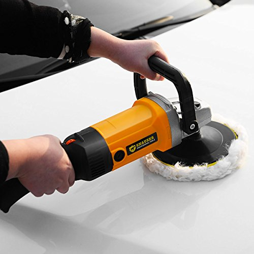 Goplus 7'' Electric Car Polisher Variable 6-speed Buffer & Sander w/ Bonnet Pad by Goplus (Image #5)