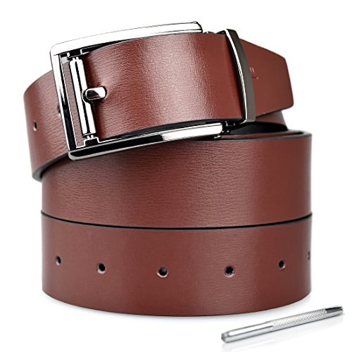 mens-geniune-reversible-leather-belt-with-removable-buckle-width-131brownblack