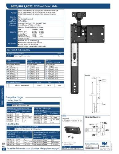 (Pocket Door Slide 12 Hinge Kit)