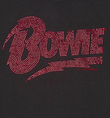 Holzkohle David Bowie rot Diamante T Shirts fr Herren aus verstrkt