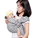 Cuby Handmade Cotton Ring Sling Wrap Baby Sling Carrier Best Gift For Parent (grey)