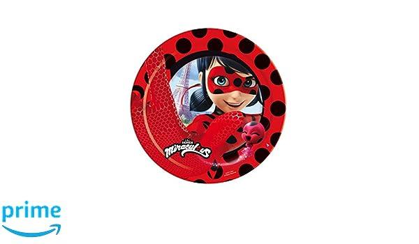 8 Platos 23 cm Ladybug: Amazon.es: Juguetes y juegos