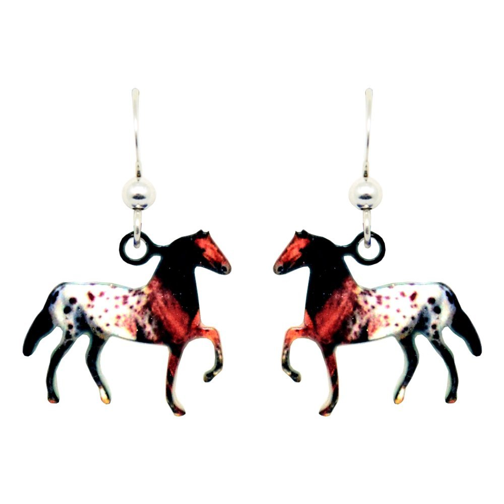 Appaloosa Earrings by dears Non-Tarnish Sterling Silver French Hook Ear Wire