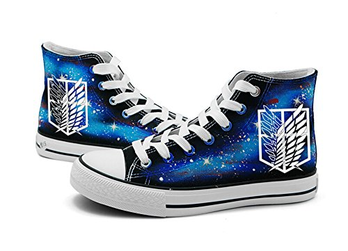 Titan Wing - Attack on Titan Shingeki No Kyojin Wings of Freedom Cosplay Shoes Canvas Shoes Sneakers Luminous