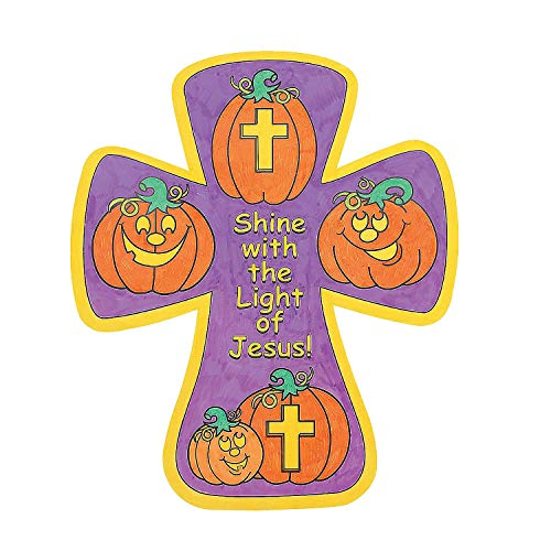 Fun Express - Cyo Christian Pumpkin Crosses for Halloween - Craft Kits - CYO - Paper - Misc CYO - Paper - Halloween - 12 -