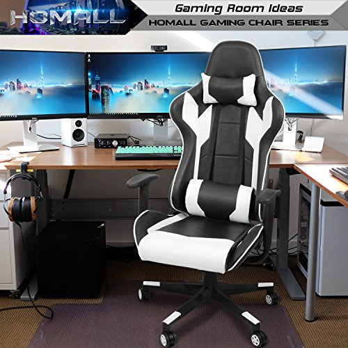 Homall Gaming Chair Racing Style High Back Faux Leather