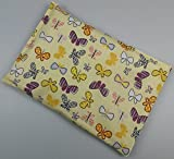 –Wheat Pillow Warming Grain Cushion Spelt Cushion with Cover, Cotton, butterfly, 20 x 30