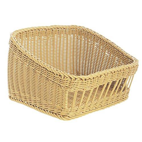 - Tapered Storage Basket, Rectangular Light Beige- 17 3/4