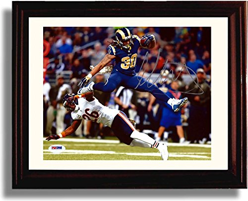 "Framed Todd Gurley ""Leaping TD"" Autograph Replica Print"