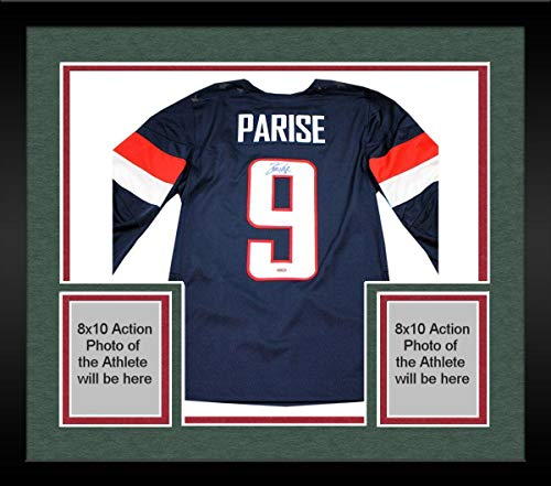(Framed Zach Parise Team USA Hockey Signed Jersey - Steiner Sports Certified - Autographed NHL Jerseys)