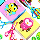 OOTSR 6pcs Child Safety Scissors, Plastic Handle