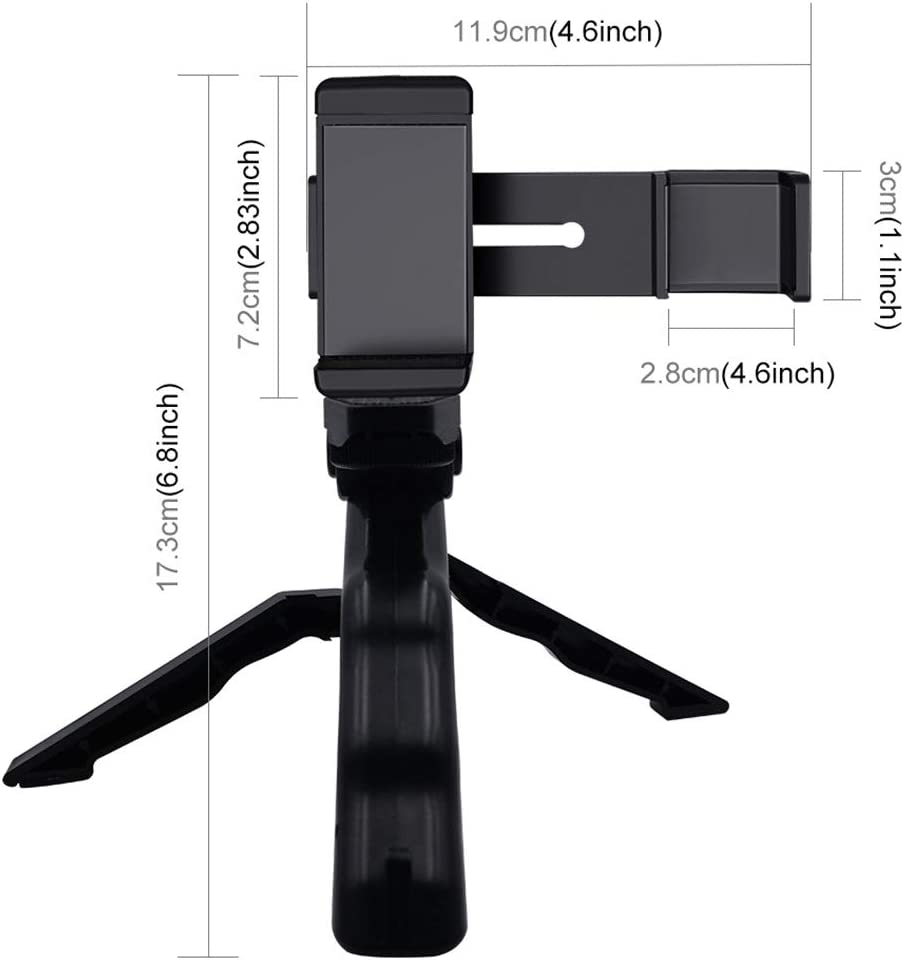Grip Folding Tripod Mount Kits for DJI OSMO Pocket Camera Mounts Clamps Accessories Smartphone Fixing Clamp 1//4 inch Holder Mount Bracket