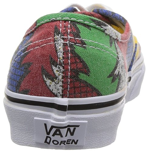 Vans U AUTHENTIC  (FRIENDSHIP) MU VVOEAX4 - Zapatillas de lona para unisex-adultos, color varios colores, talla 34.5 Rojo