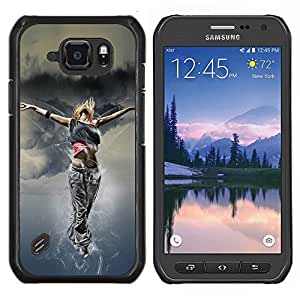 LECELL--Funda protectora / Cubierta / Piel For Samsung Galaxy S6Active Active G890A -- Danza Mujer Street Style Outfit Fashion Art --