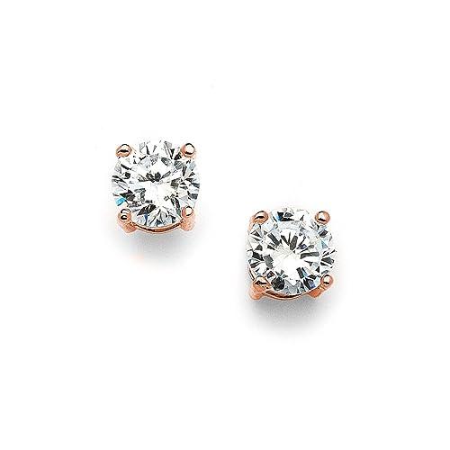 Amazon.com  Mariell 2 Carat Round-Cut Cubic Zirconia Stud Earrings ... caaf27a089
