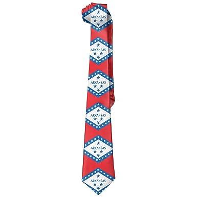 deyhfef Mens USA Arkansas State Flag Novelty Corbata Tie: Amazon ...