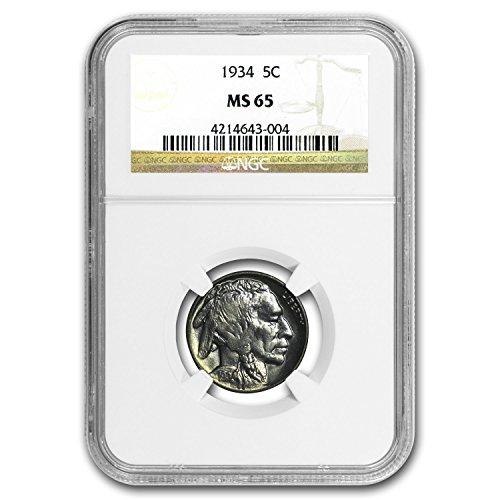 1934 Buffalo Nickel MS-65 NGC Nickel MS-65 NGC