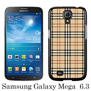 Mega 6.3 Case,Burberry 42 Black Samsung Galaxy Mega 6.3 i9200 i9205 Screen Cover Case Unique and Elegant Design