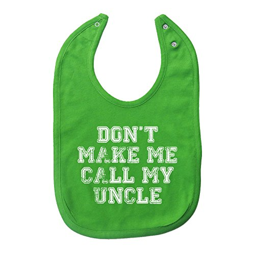 Price comparison product image Mashed Clothing Don't Make Me Call My Uncle PREMIUM 2-Ply Cotton Baby Bib With Snaps (Apple)